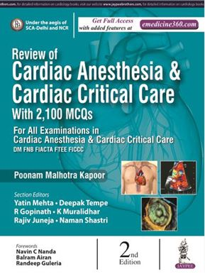 Picture of Review of Cardiac Anesthesia and Cardiac Critical Care With 2,100 MCQs